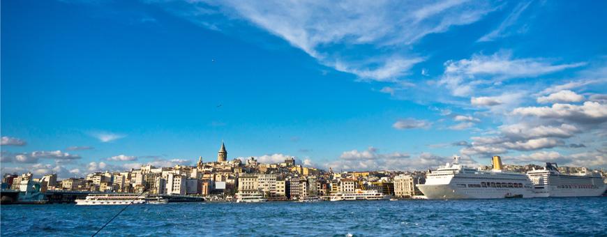 Стамбул - живописный вид с моря